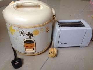 Rice cooker & Bread toaster