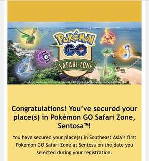 🚚 Pokémon Safari Sentosa Entry Pass