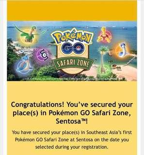 🚚 Pokémon Safari Zone @ Sentosa ENTRY PASS