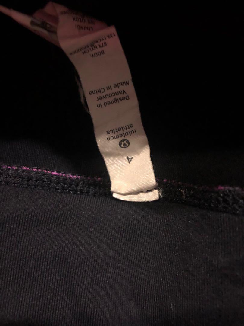 2 pairs Lulu Lemons - size 4 - Astro pants + Capris