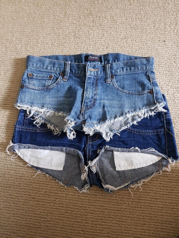 2x booty shorts denim xs festival beach wear