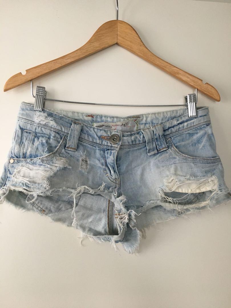 $5 SALE Denim low rise shorts by River Island - Sz 8