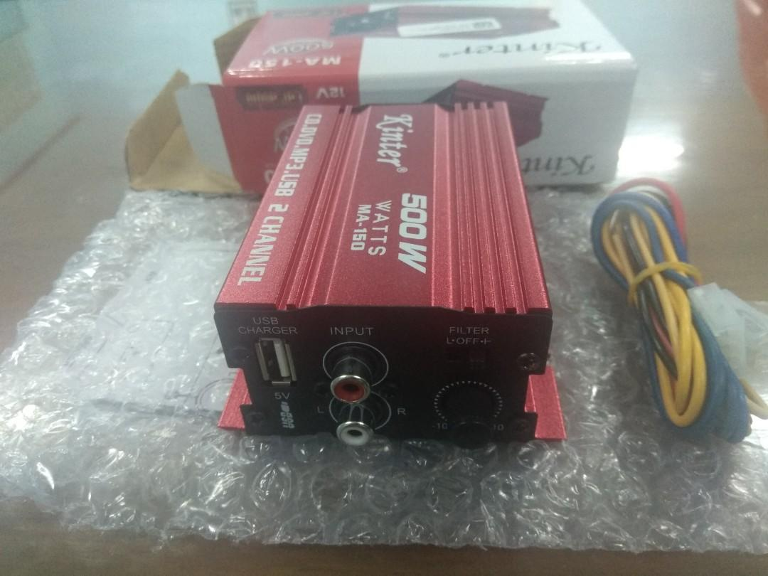 Ampli utk speaker dgn 2 channel dan usb baru