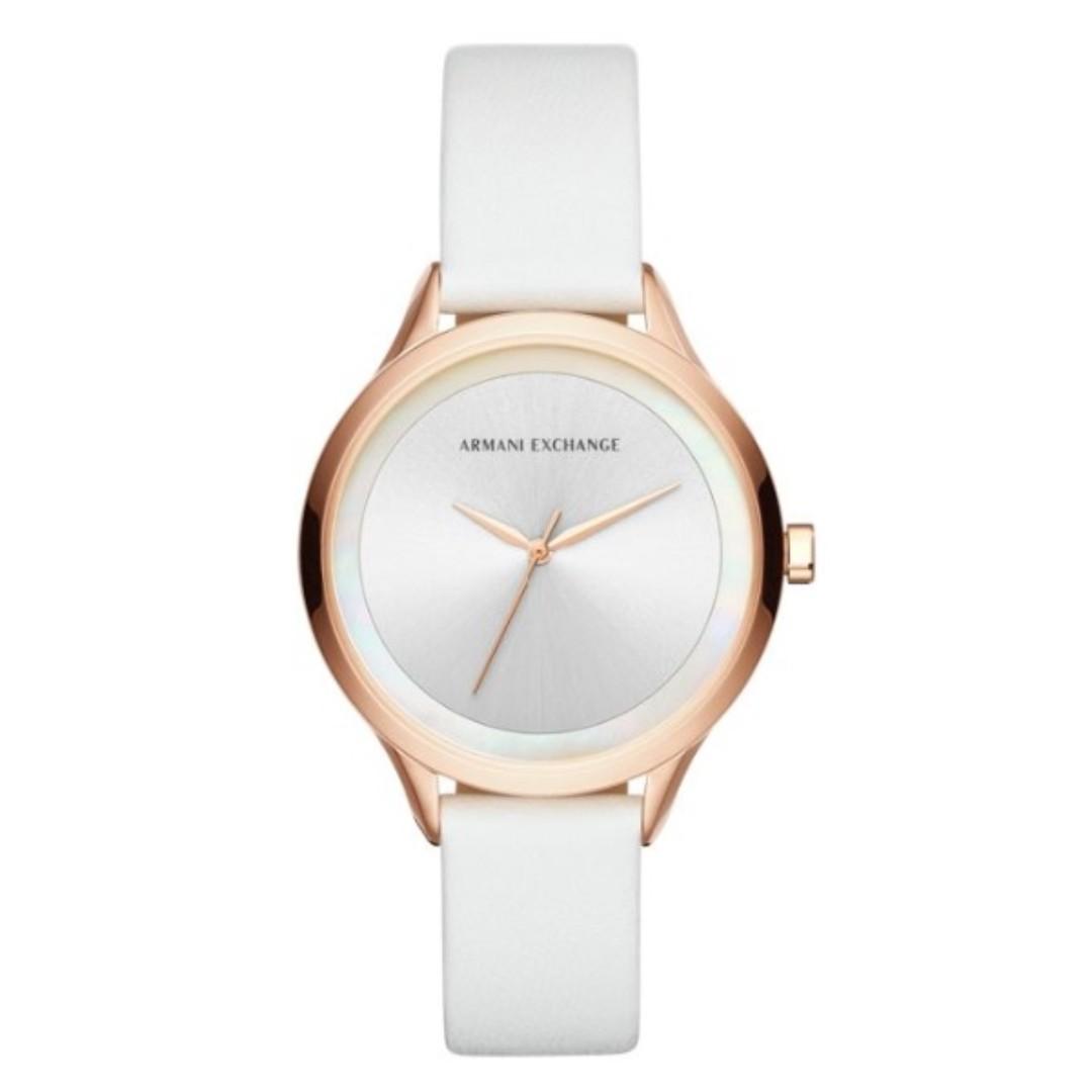 d439aea07d Armani Exchange AX5604 White Leather Ladies Watch