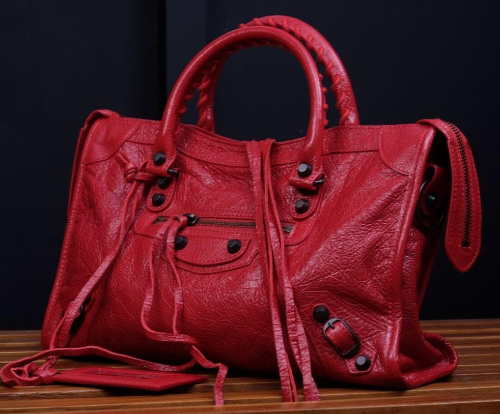Balenciaga small classic NBU, db, strap, sample leather, mirror, tag
