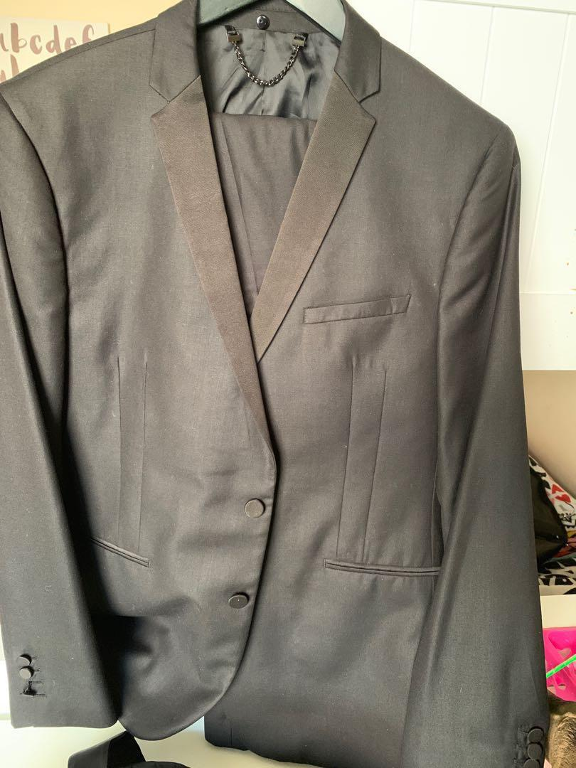 Black formal skinny fit politix suit