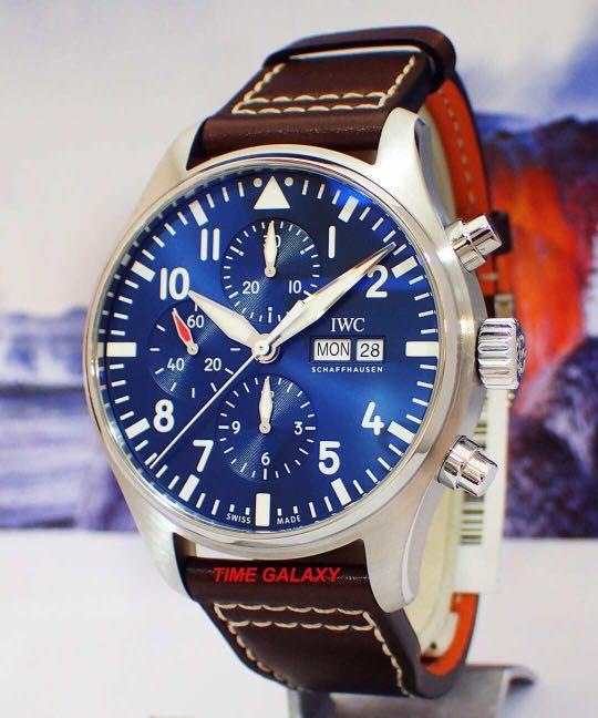 "Brand New IWC Pilot's Auto Chrono ""Le Petit Prince""Special Edition 43mm Stainless steel Watch. Model IW377714. Swiss made."