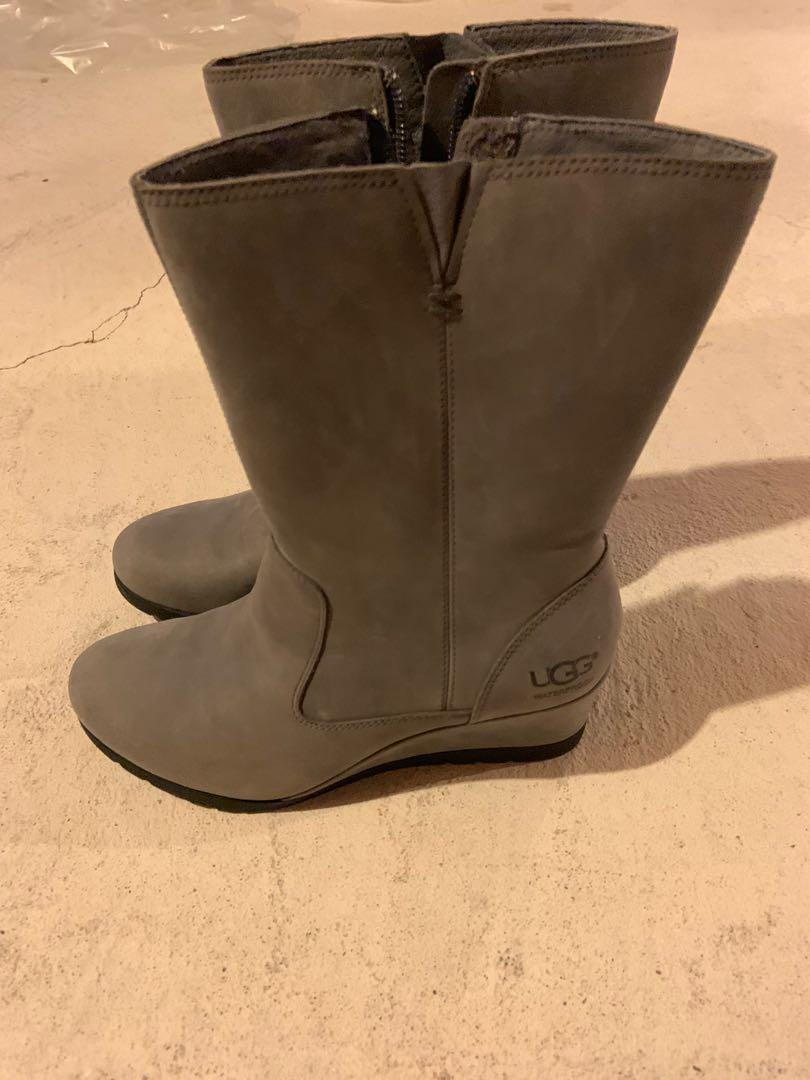 Brand new Ugg wedge boots. Super warm and waterproof. Retails for $280. Size 6.5