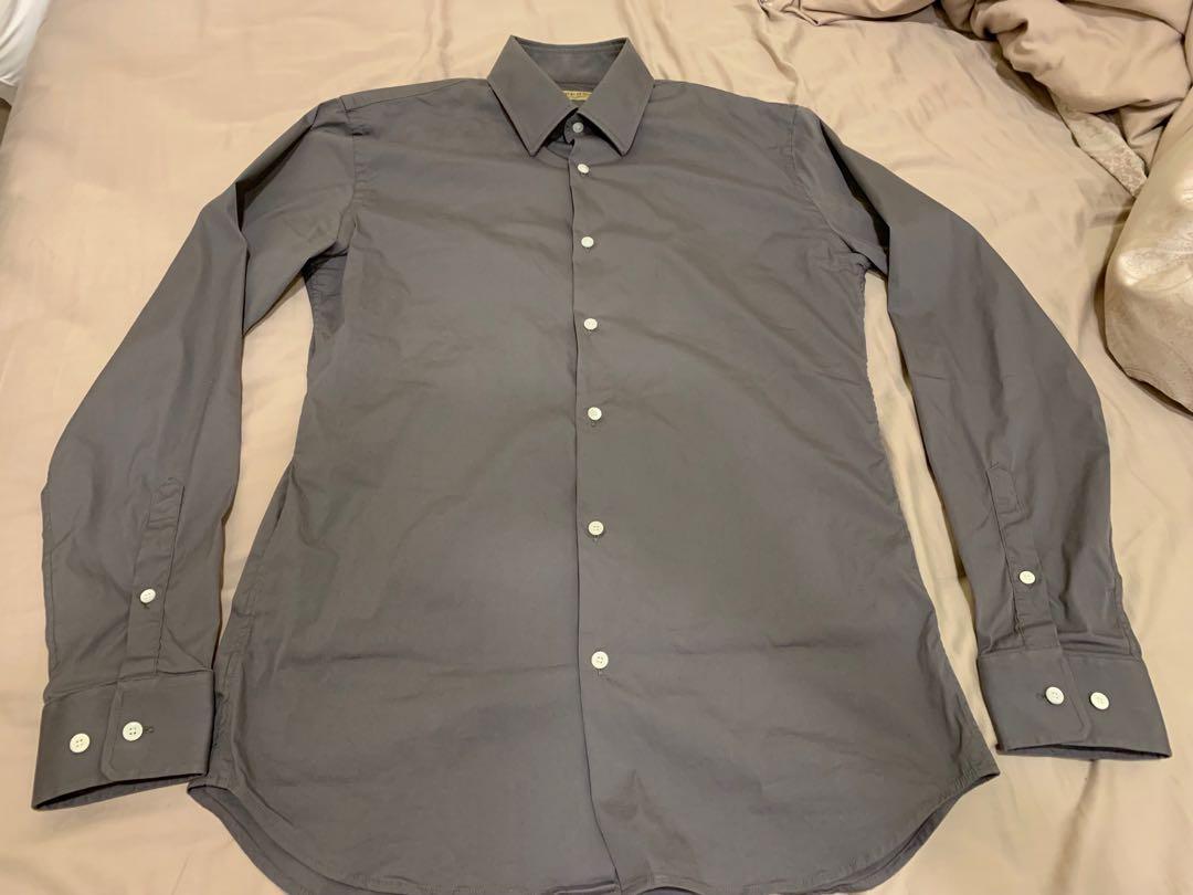 Burberry 男裝 灰色西裝 恤衫 中碼 90%新 原價$2900