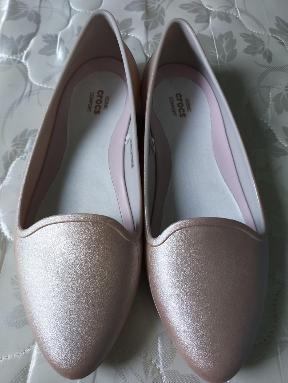 0a4c93e60da4 Crocs Shoes in Metallic Pink