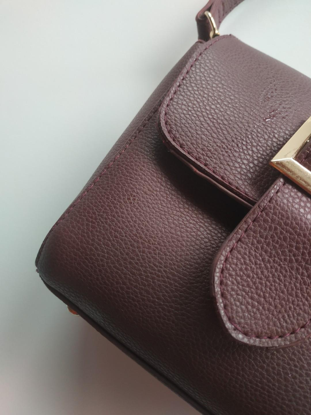 Cute Purple/Burgundy Purse Bag