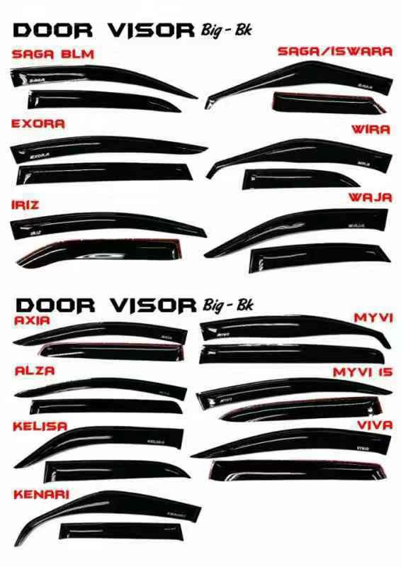 Door visor for car Mugen