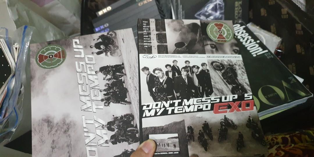 Exo Dont Mess Up My Tempo album 2018 allegro and andante (CD never played, no PC, free folded poster)