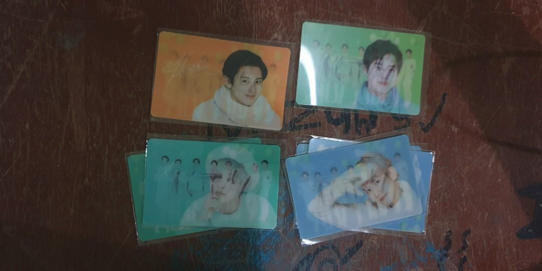 Exo Nature Republic 2019 Lenticular Card Chanyeol Baekhyun Xiumin Suho