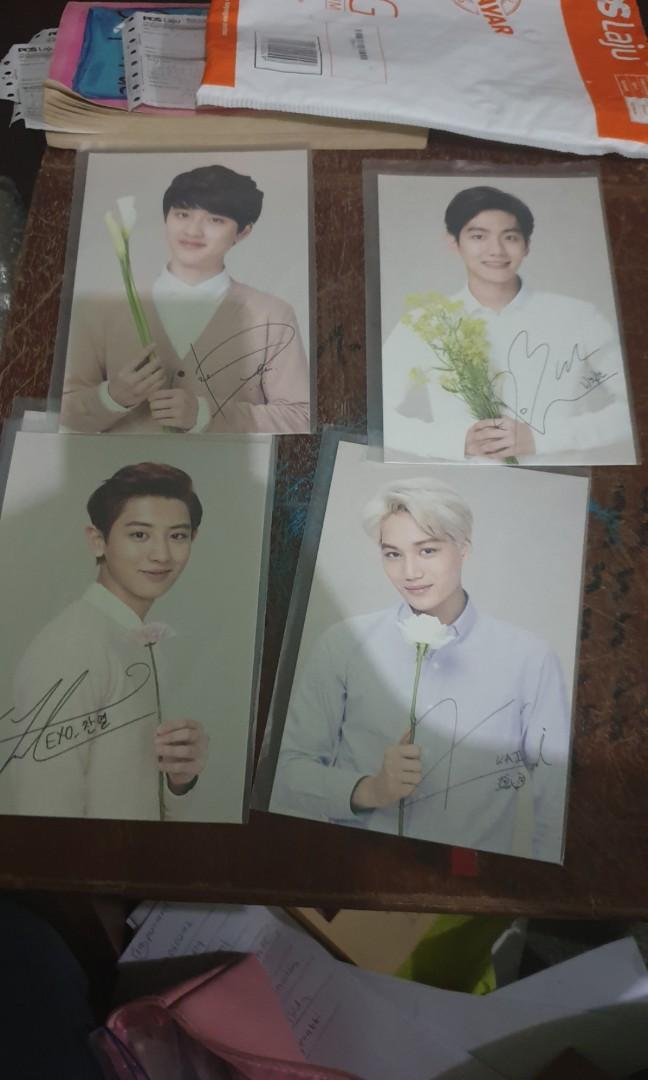 Exo Nature Republic Postcard chanyeol baekhyun kyungsoo jongin