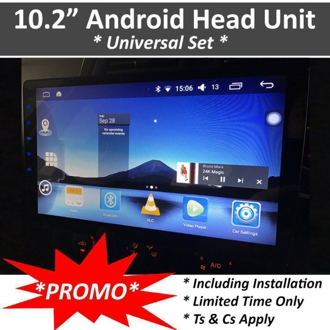 FLASH SALE* - Limited sets) DOUBLE DIN CAR HEAD UNIT - 10 2