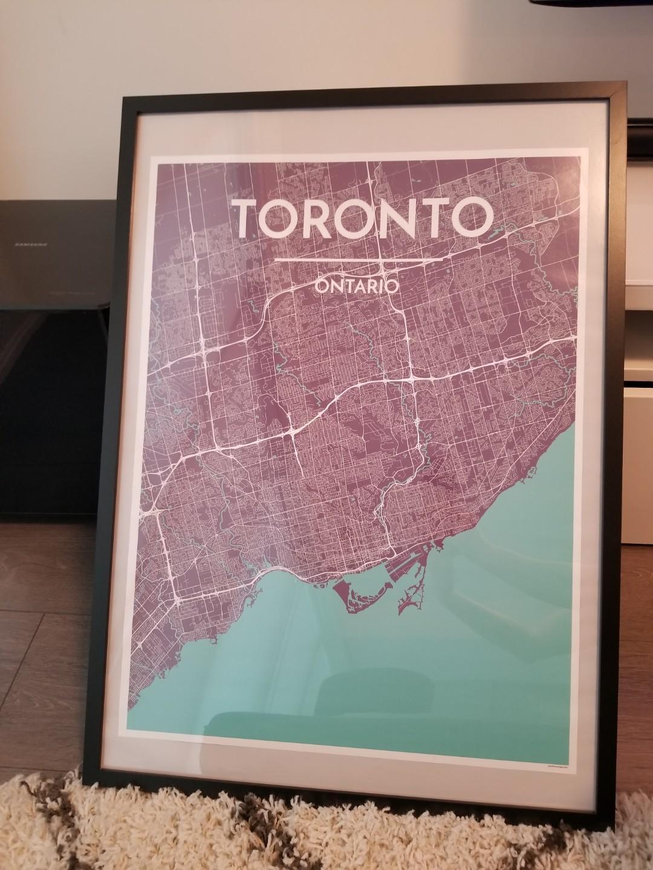 Framed Toronto poster