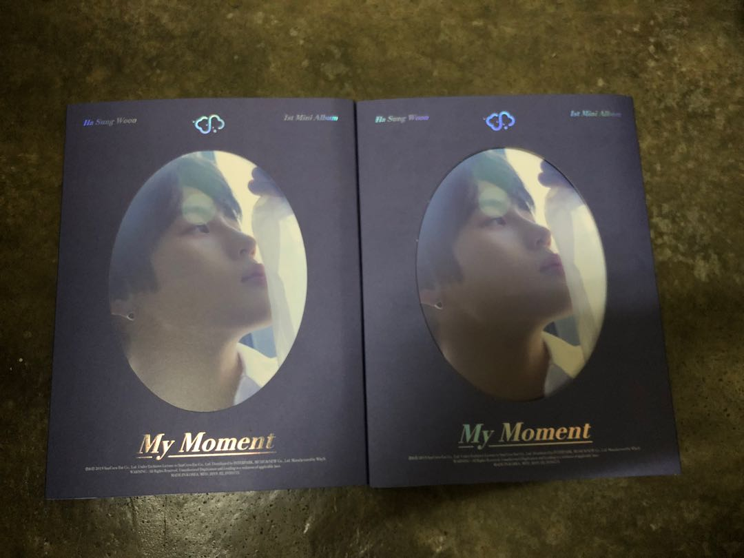 Ha Sungwoon 1st Mini Album My Moment Daily Version - Only CD and photobook