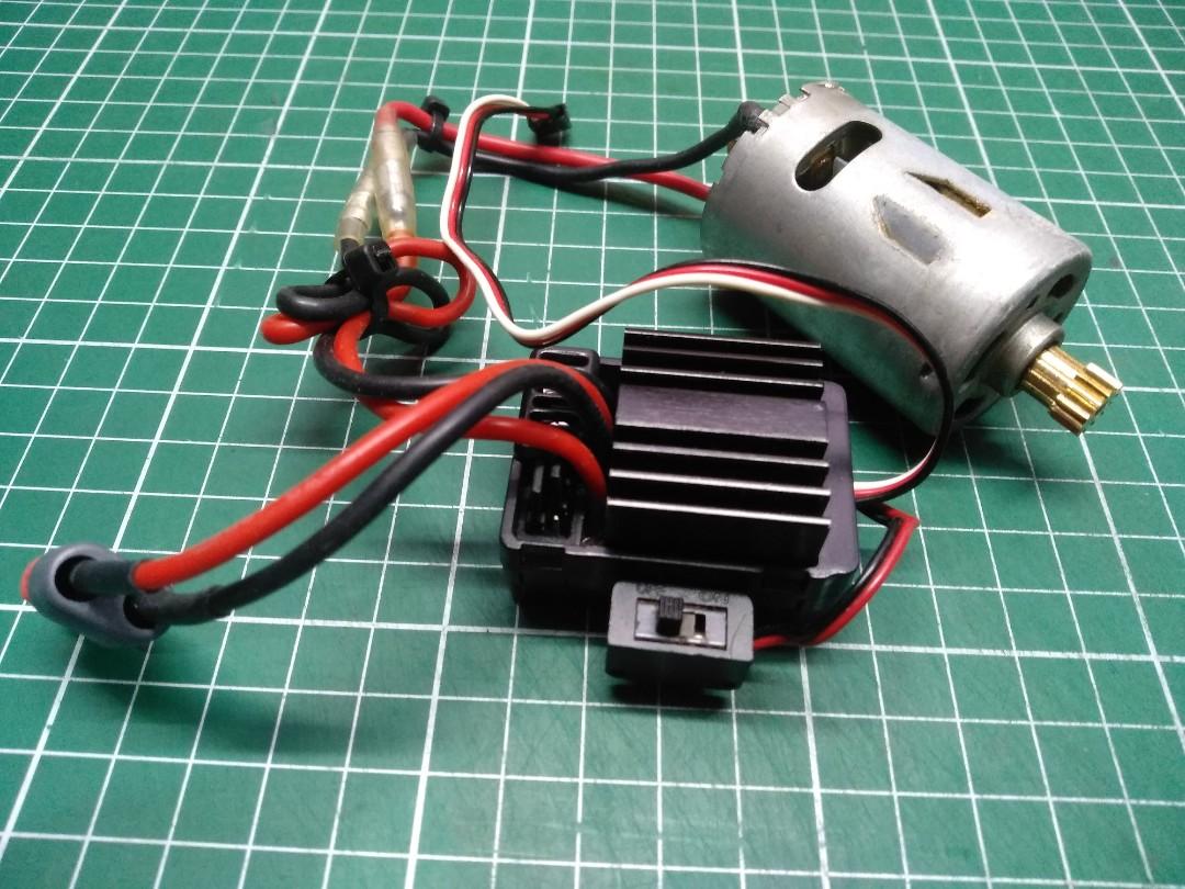 Hobbywing WP ESC + Brushed motor for 1/10 crawler