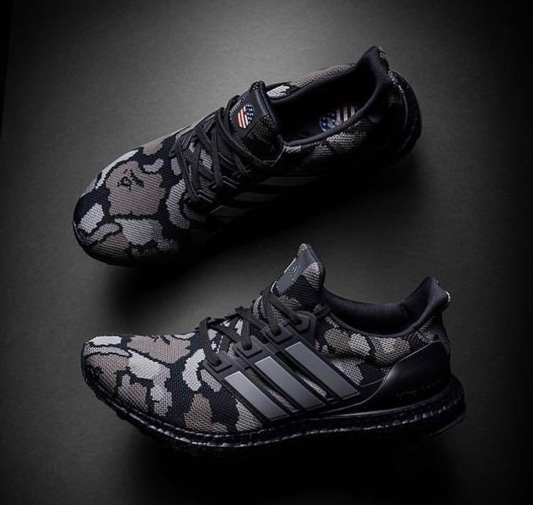 Details about Adidas X BAPE Ultra Boost Black Camo UK9 US9.5 EU 43 13 G54784 In Hand