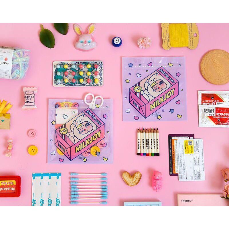 [Instock] Cutie Girl [Teddy Bear] Storage Zipper Bag By Milkjoy
