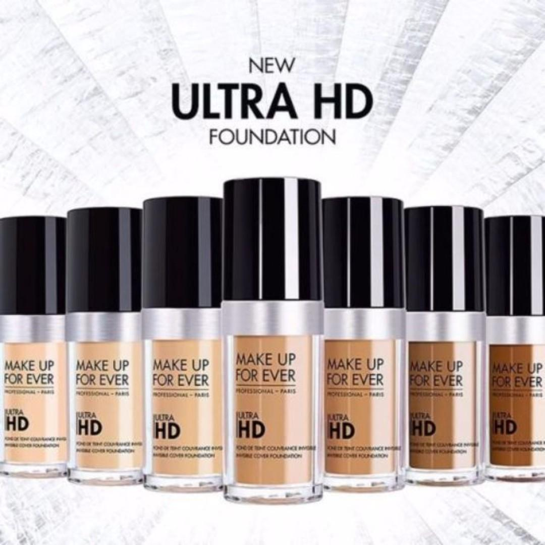 MAKE UP FOR EVER, MUFE ULTRA HD FOUNDATION 30ml [CHOOSE SHADE] BRAND NEW & AUTHENTIC (NO SWAPS, PRICE IS FIRM)