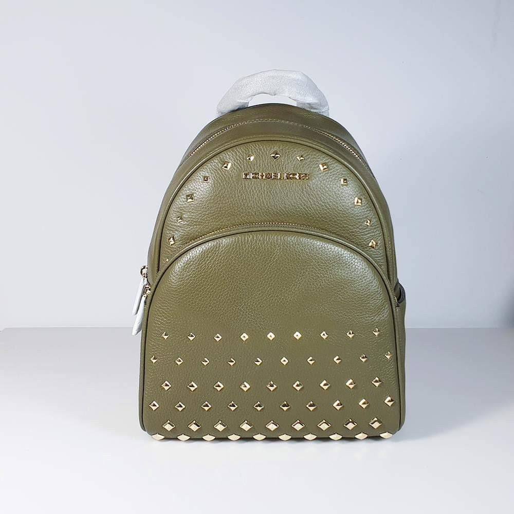 663f3c71e55c Michael Kors - Abbey Olive MD Studded Backpack, Luxury, Bags ...