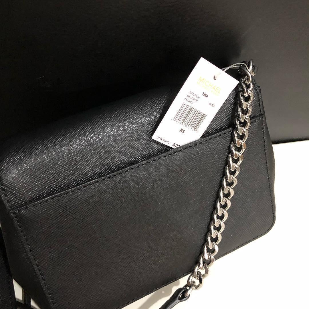 Michael Kors Tina Clutch Crossbody sz 17x14 (removable and adjustable long strap)