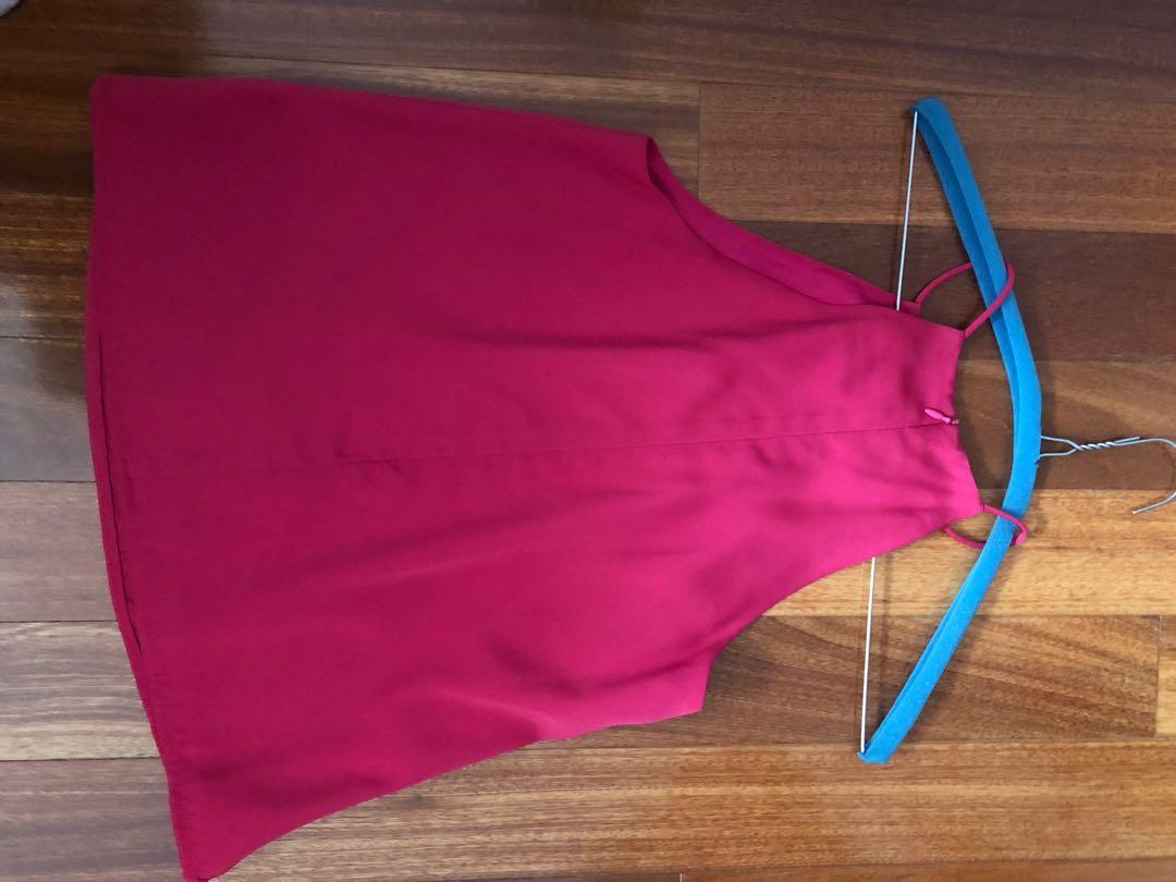 Pink halter top