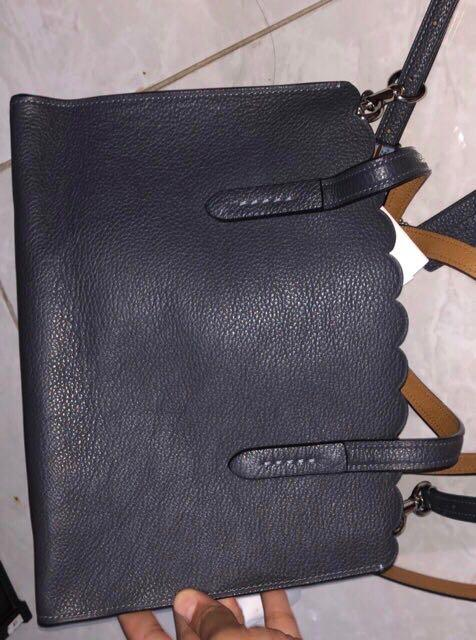 Preloved Like New Coach Paire Rivets Charlie 27 Callyall Midnight Navy bag Authentic