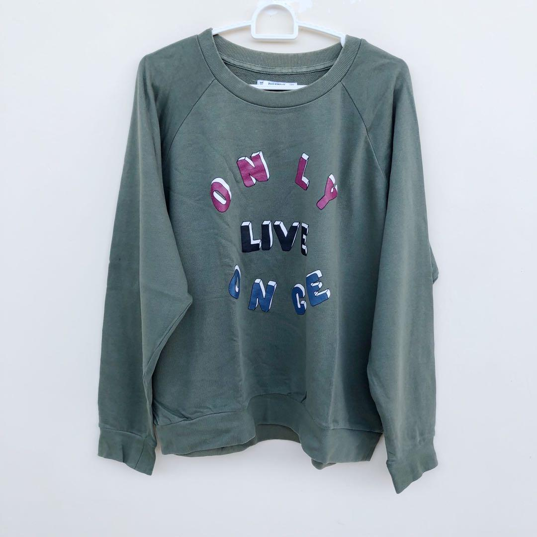 buy popular crazy price amazing selection Pull and bear sweatshirt, Women's Fashion, Women's Clothes ...