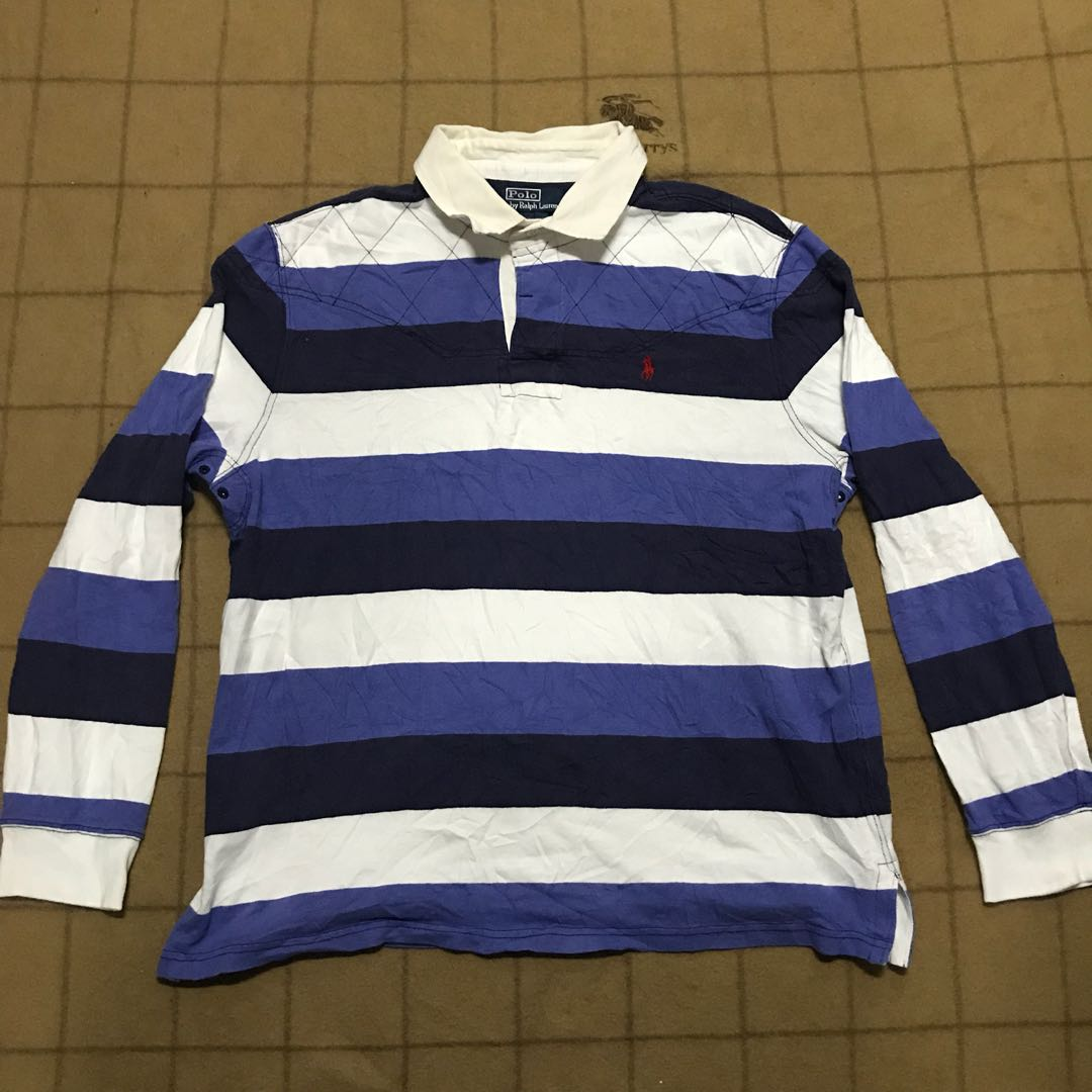 Blue Lauren Rugby Stripe Polo Ralph WIbHEDe29Y