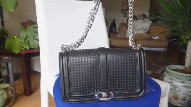 Rebecca Minkoff Love perforated black bag