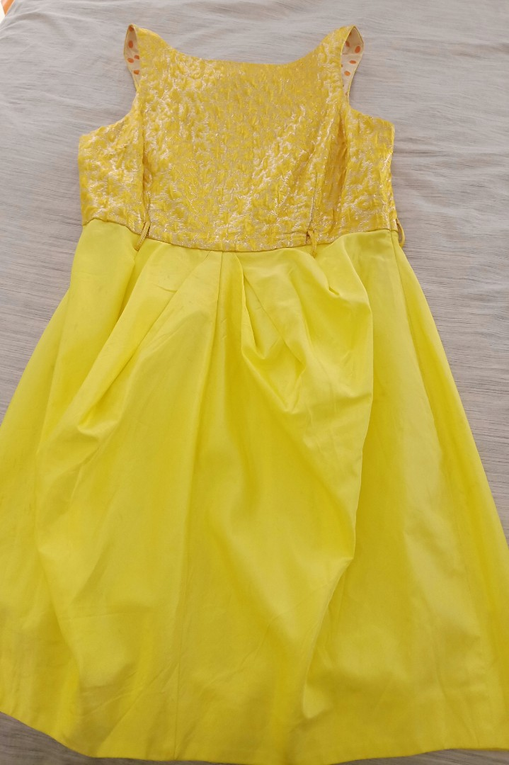 2a70aaa61f3c2f River Island party yellow dress, Women's Fashion, Clothes, Dresses ...