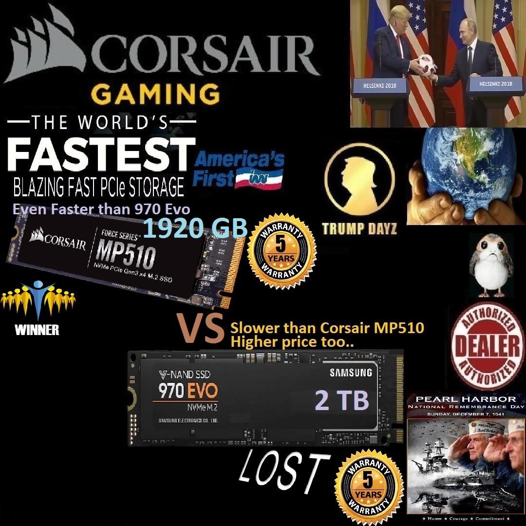 Samsung 970 EVO 2TB M 2 SSD vs Corsair MP510 Force Series™ 1920GB M 2    World Fastest SSD