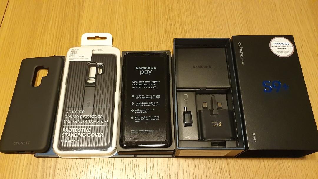 the latest 5f4ae 16dac Samsung Galaxy S9 Plus 256 GB+Samsung Case+Wireless charger