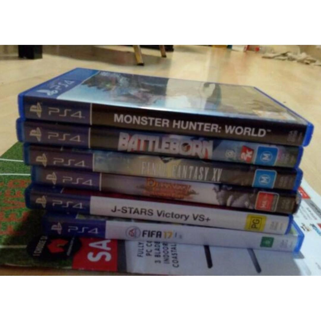 SELLING VARIOUS PS4 GAMES