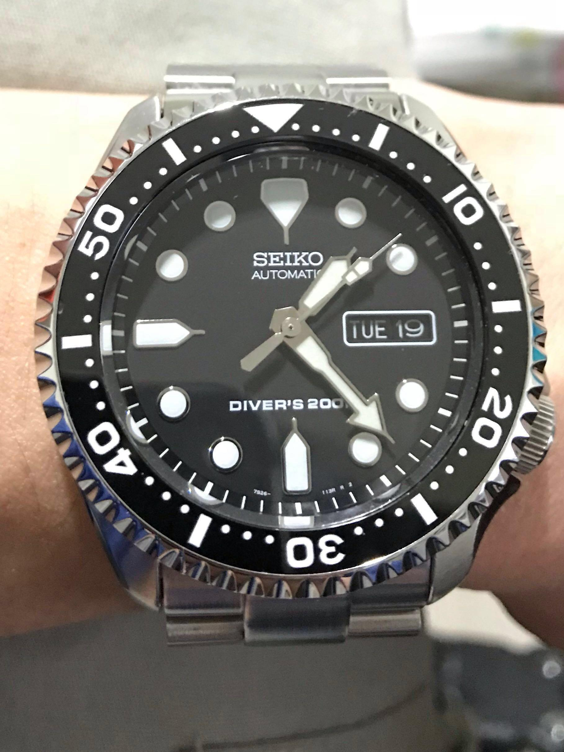 Submariner style bezel for seiko skx skx007 skx009, Men's