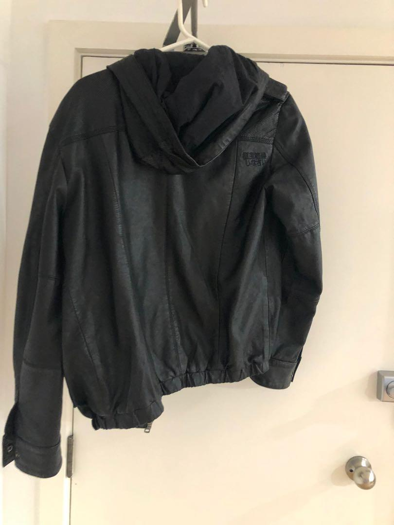 Superdry leather jacket size M - RRP $599