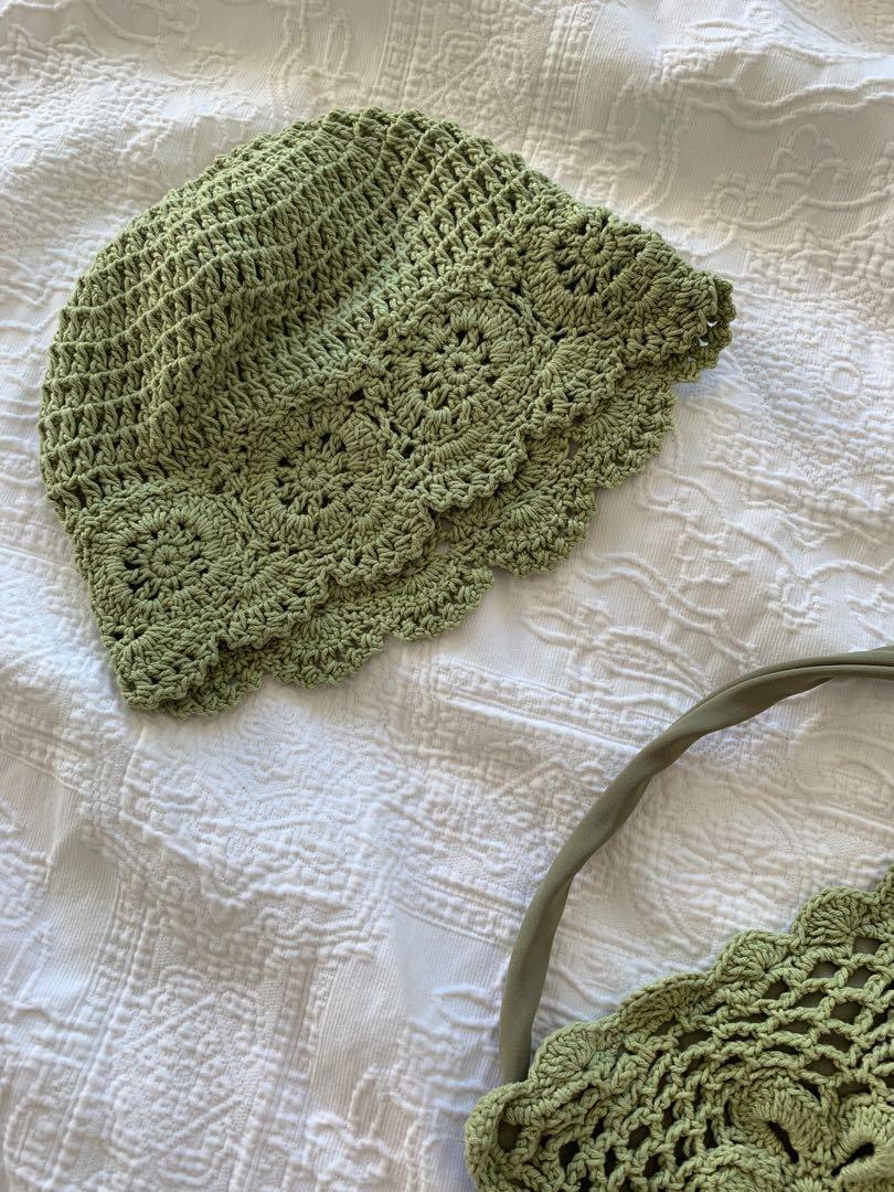 Tacoola green crochet bikini set size S M brand new