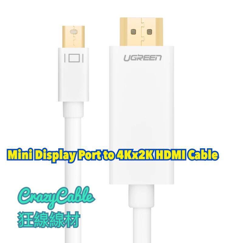 UGREEN Mini Display Port To HDMI 4Kx2K 1.5m