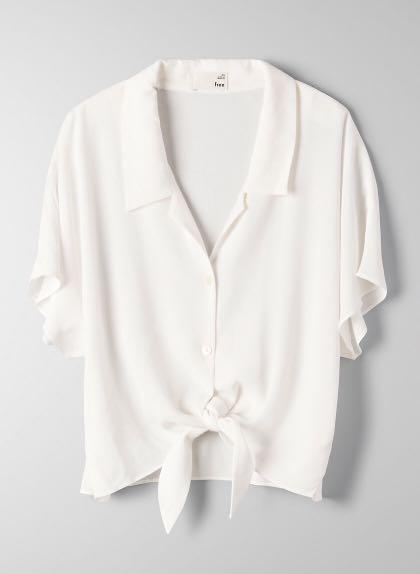 Wilfred Free The Tie-Front Blouse White size Medium