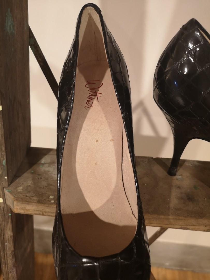 Witrner leather black heels. Size 39