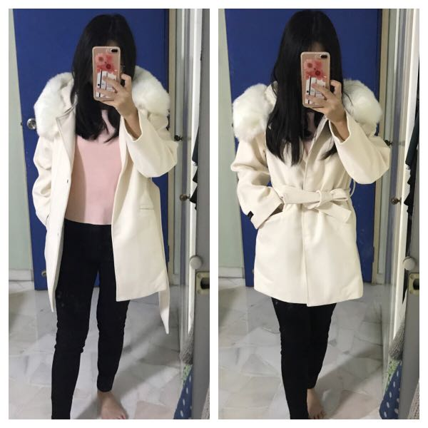 f539bcb9810 Wool coat spring jacket with hood parka