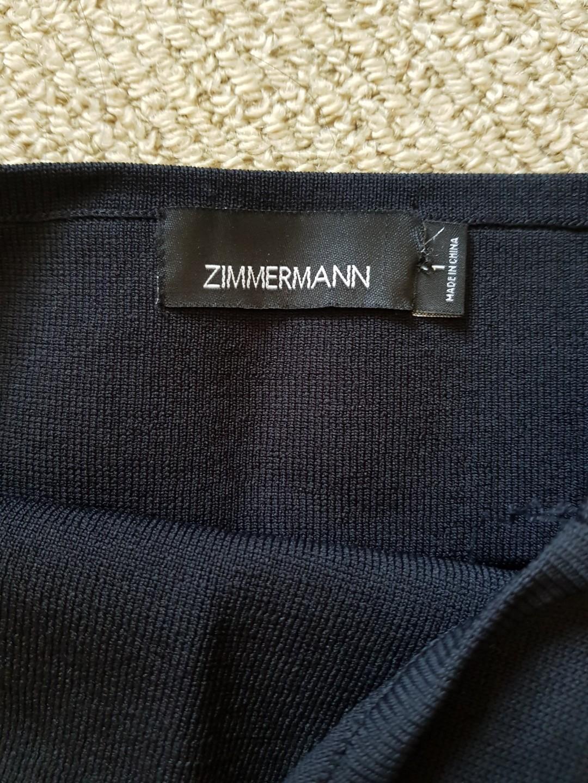 ZIMMERMAN SIZE 1 BLACK BODYCON DESIGNER MINI DRESS