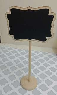 Chalkboard Wooden Table Stand 10pcs