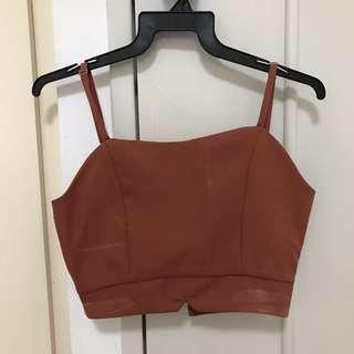🚚 Red Camisole Crop Top