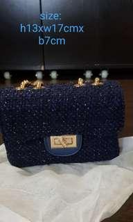 🚚 Brand New mini tweet bag in navy blue