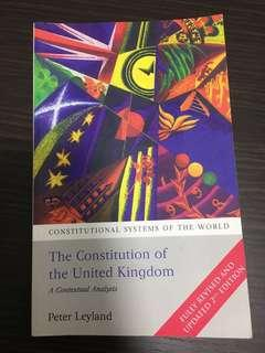 🚚 The Constitution of the United Kingdom, Peter Leyland