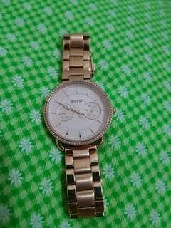 Dijual cepat ! Authentic Woman Watches FOSSIL Rosegold